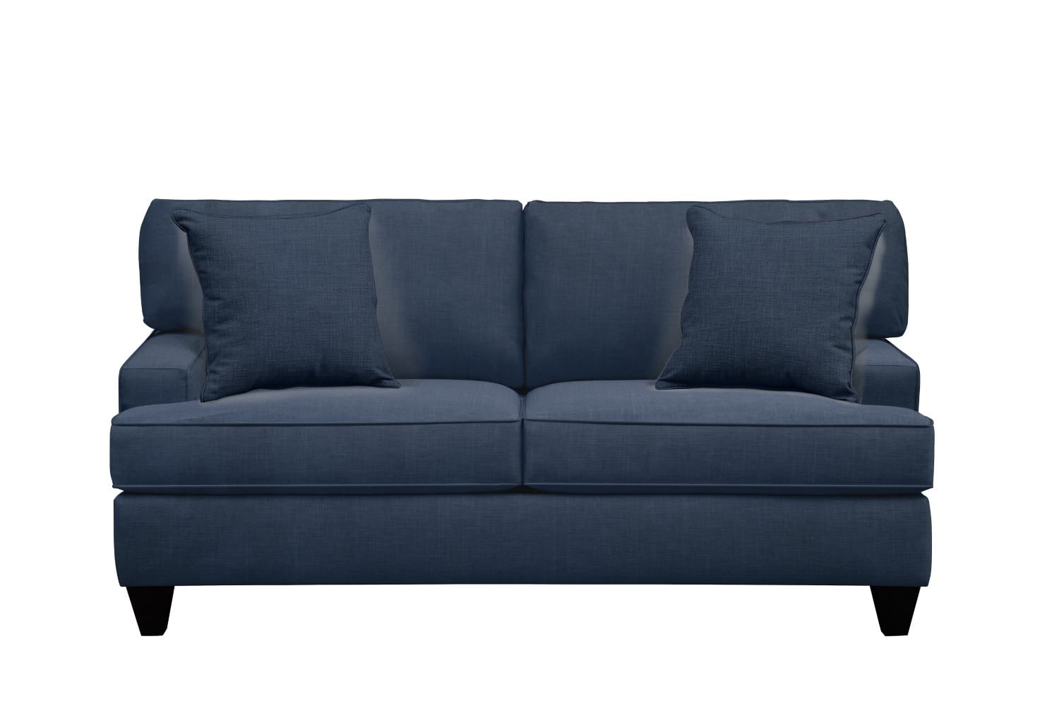 "Living Room Furniture - Conner Track Arm Sofa 75"" Oakley III Ink w/ Oakley III Ink Pillow"