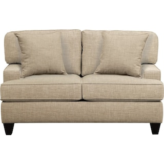 "Conner Track Arm Sofa 63"" Milford II Toast w/ Milford II Toast  Pillow"