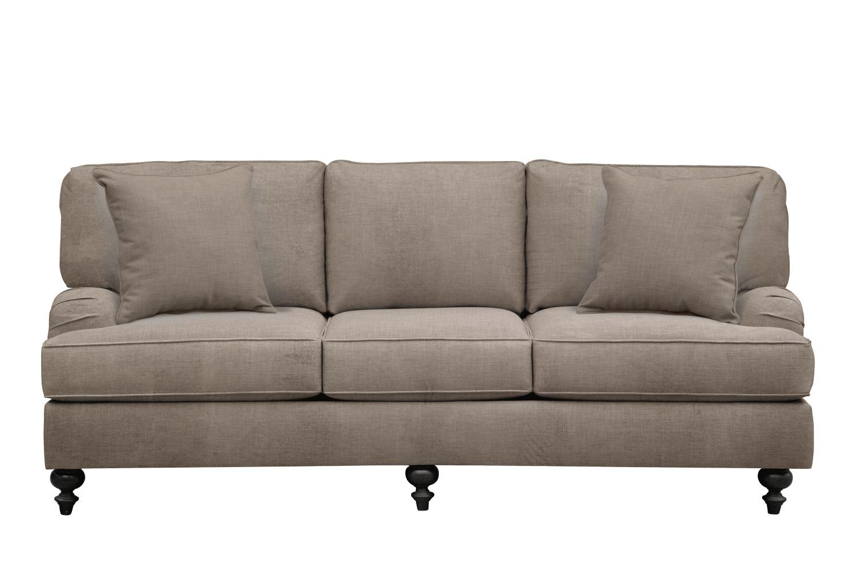 "Avery English Arm Sofa 86"" Oakley III Granite w/ Oakley III Granite Pillow"
