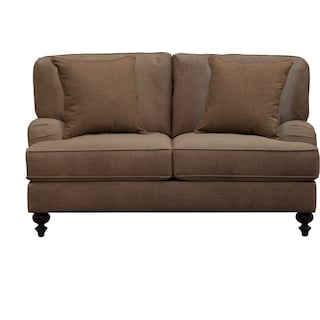 "Avery English Arm Sofa 62"" Oakley III Java w/ Oakley III Java Pillow"