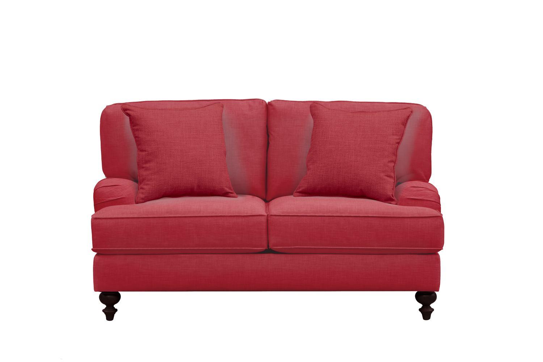 "Avery English Arm Sofa 62"" Oakley III Tomato w/ Oakley III Tomato Pillow"