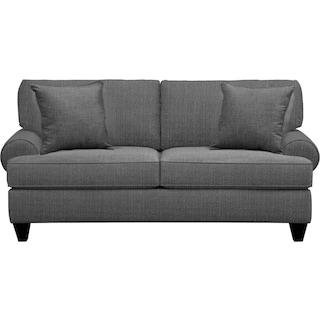 "Bailey Roll Arm Sofa 79"" Depalma Charcoal w/ Depalma Charcoal Pillow"