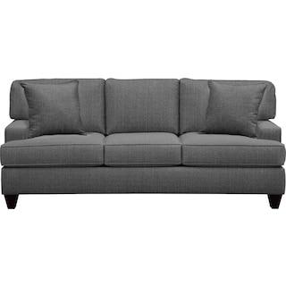 "Conner Track Arm Sofa 87"" Depalma Charcoal w/ Depalma Charcoal Pillow"