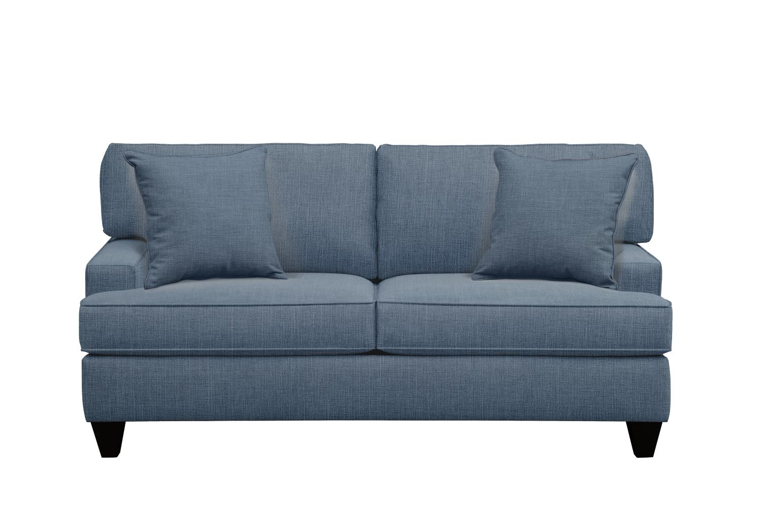 "Living Room Furniture - Conner Track Arm Sofa 75"" Milford II Indigo  w/ Milford II Indigo Pillow"