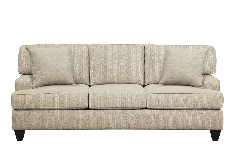 "Living Room Furniture - Conner Track Arm Sofa 87"" Depalma Taupe w/ Depalma Taupe  Pillow"