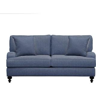 "Avery English Arm Sofa 74"" Depalma Ink w/ Depalma Ink Pillow"