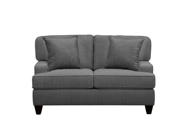 "Conner Track Arm Sofa 63"" Depalma Charcoal w/ Depalma Charcoal Pillow"