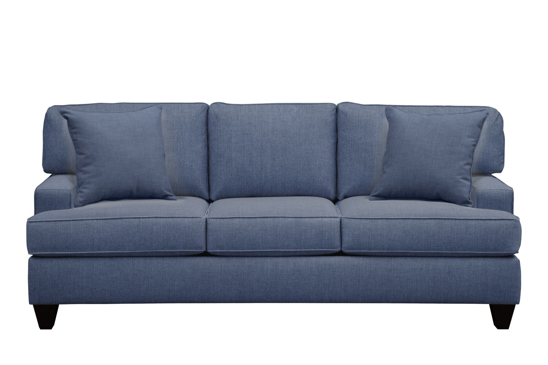"Conner Track Arm Sofa 87"" Depalma Ink w/ Depalma Ink Pillow"
