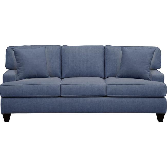 "Living Room Furniture - Conner Track Arm Sofa 87"" Depalma Ink w/ Depalma Ink Pillow"