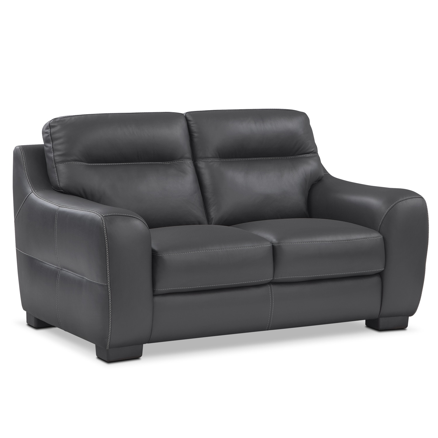 [Rocco Black Loveseat]