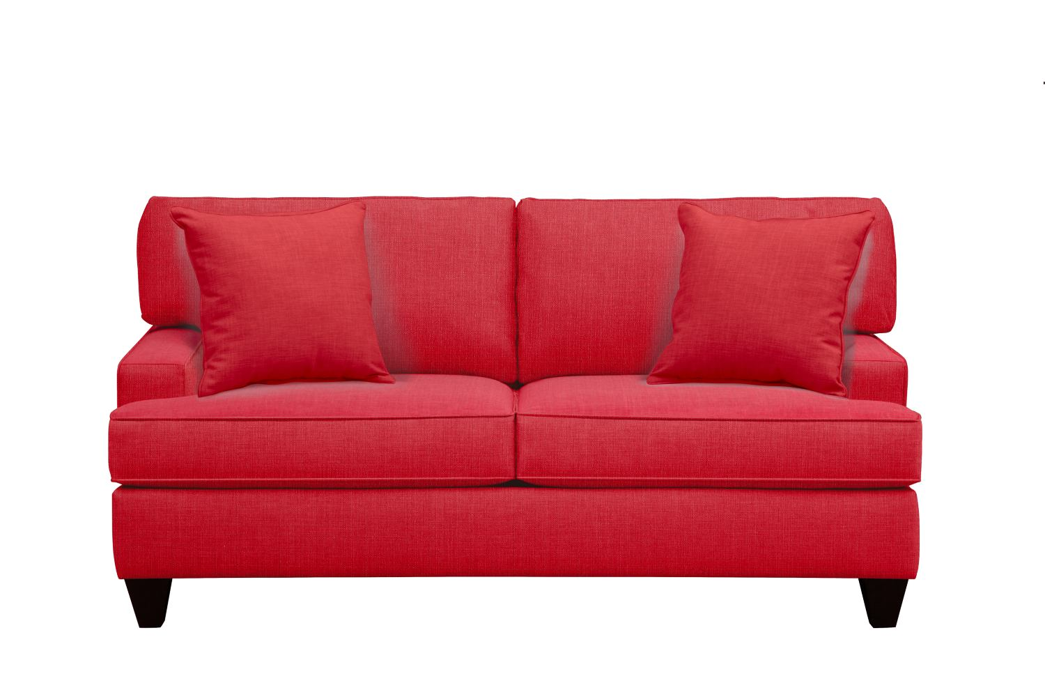 "Living Room Furniture - Conner Track Arm Sofa 75"" Depalma Cherry w/ Depalma Cherry Pillow"