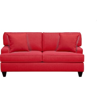"Conner Track Arm Sofa 75"" Depalma Cherry w/ Depalma Cherry Pillow"