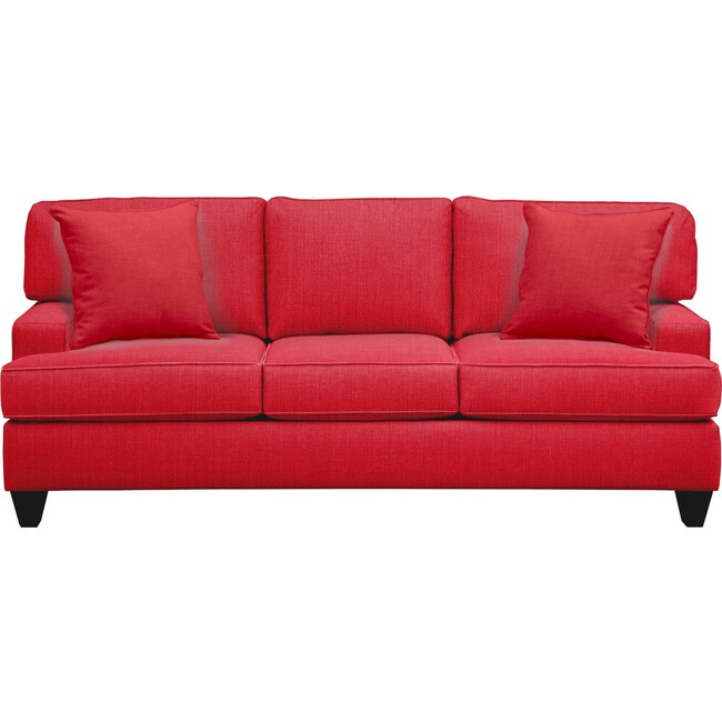 "Living Room Furniture - Conner Track Arm Sofa 87"" Depalma Cherry w/ Depalma Cherry Pillow"