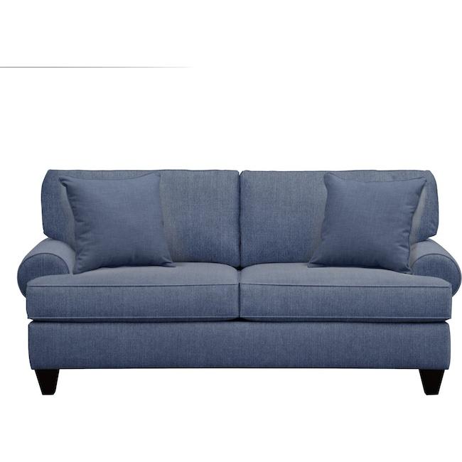 "Living Room Furniture - Bailey Roll Arm Sofa 79"" Depalma Ink w/ Depalma Ink Pillow"
