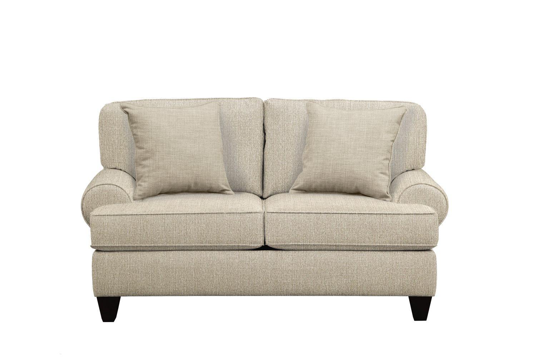 "Living Room Furniture - Bailey Roll Arm Sofa 67"" Depalma Taupe w/ Depalma Taupe  Pillow"