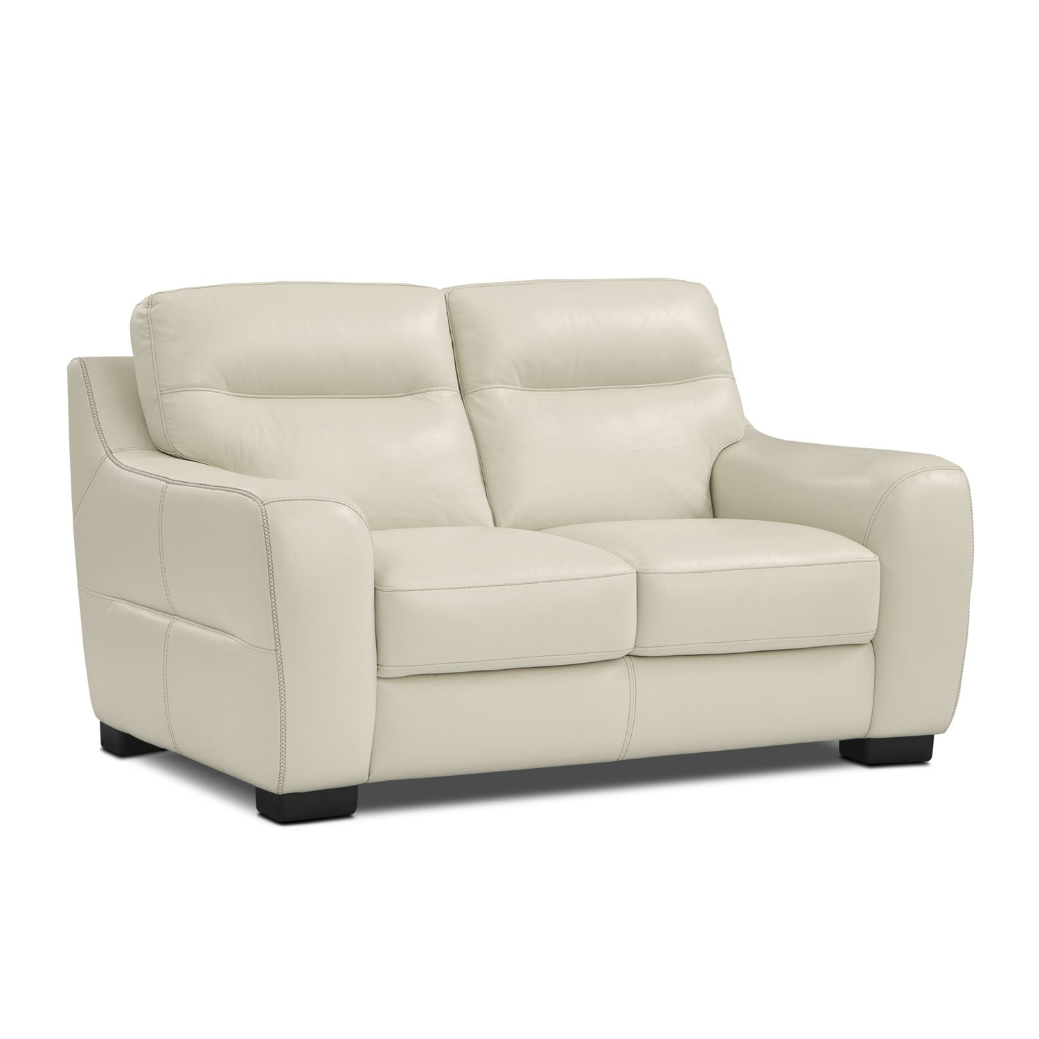 Living Room Furniture - Rocco Loveseat - Snow