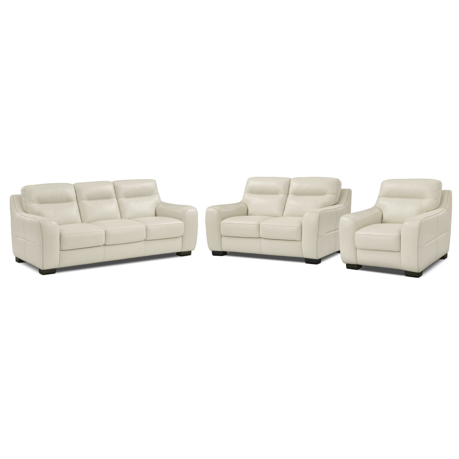 Living Room Furniture - Rocco Snow 3 Pc. Living Room