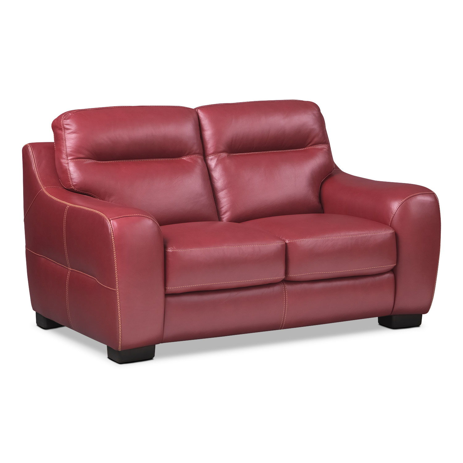 [Rocco Red Loveseat]