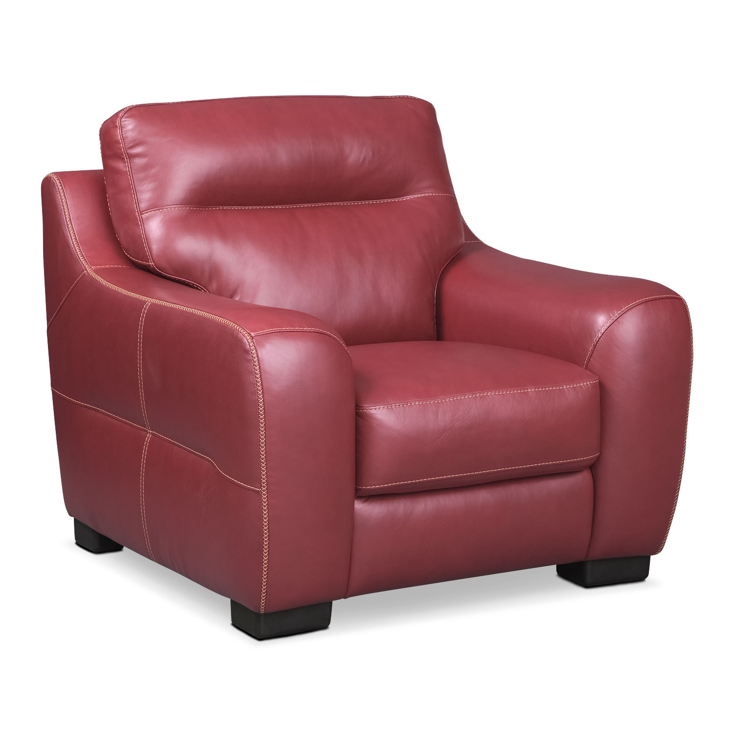 Living Room Furniture - Rocco Red Chair