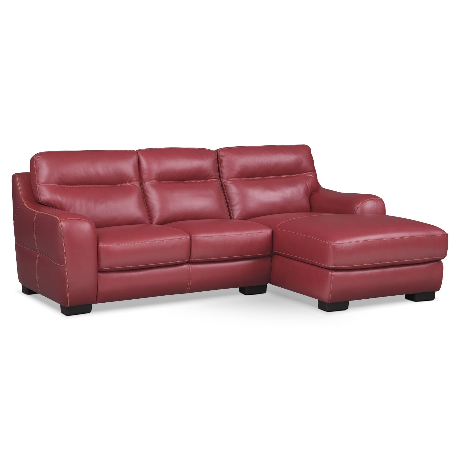 Living Room Furniture - Rocco Red 2 Pc. Right-Facing Chaise Sectional