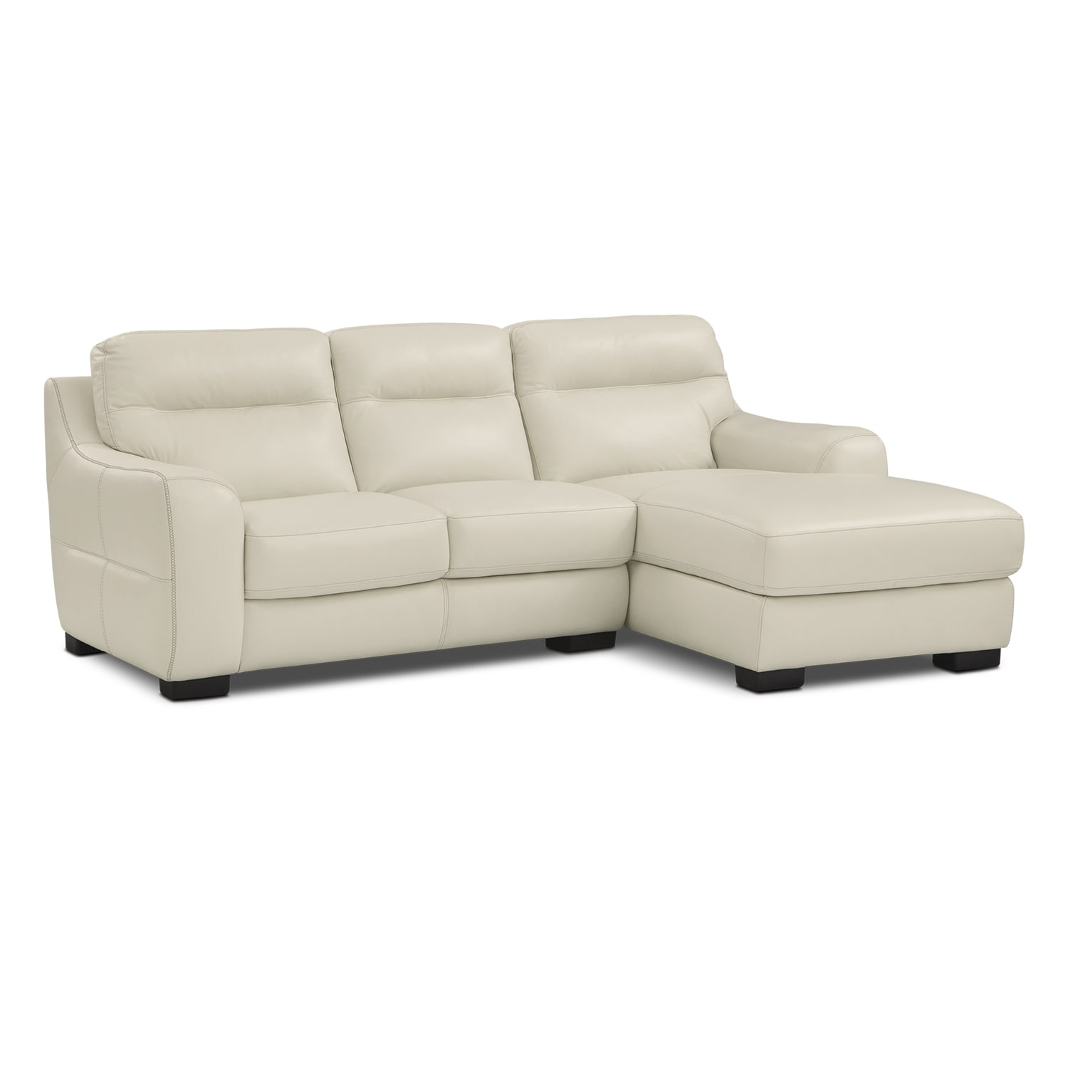 Rocco 2-Piece Sectional with Right-Facing Chaise - Snow