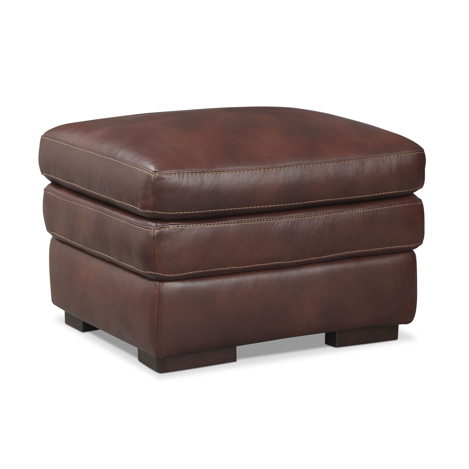 Living Room Furniture - Peyton Chestnut Ottoman