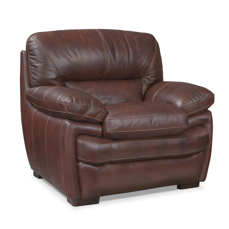 Living Room Furniture - Peyton Chestnut Chair