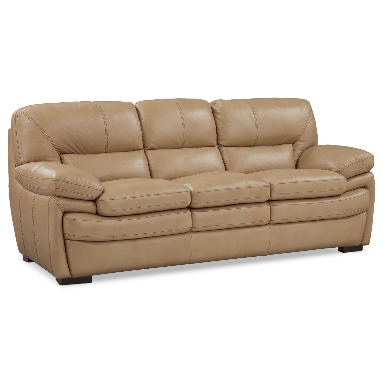 Living Room Furniture - Peyton Taupe Sofa