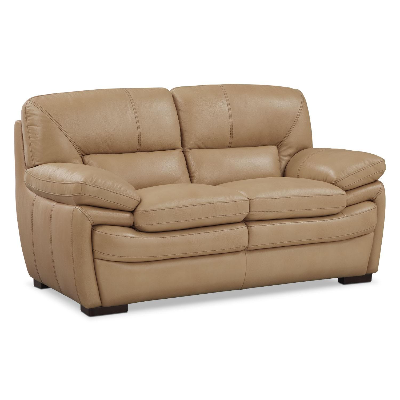 Living Room Furniture - Peyton Taupe Loveseat