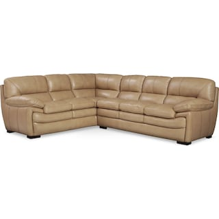 Peyton Taupe 2-Piece Sectional - Taupe