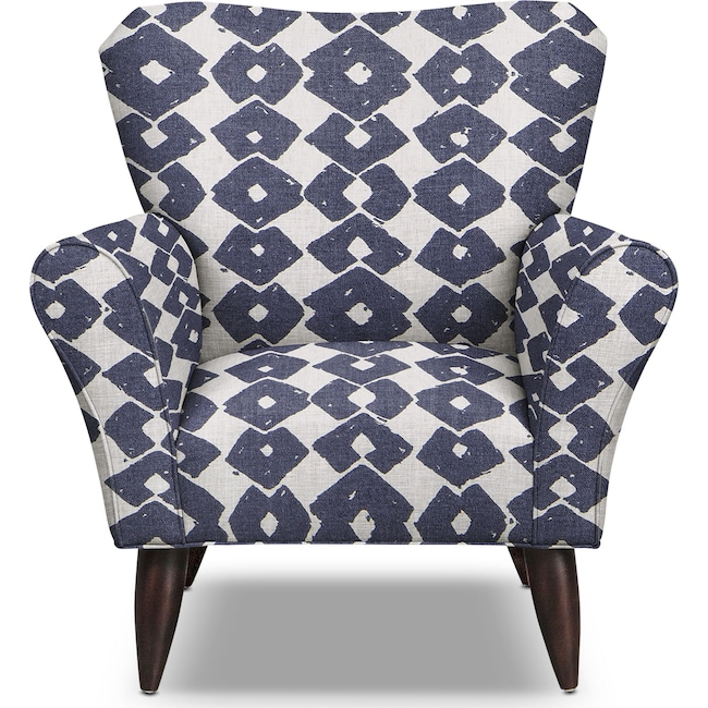 Living Room Furniture - Jessie Accent Chair - Blue