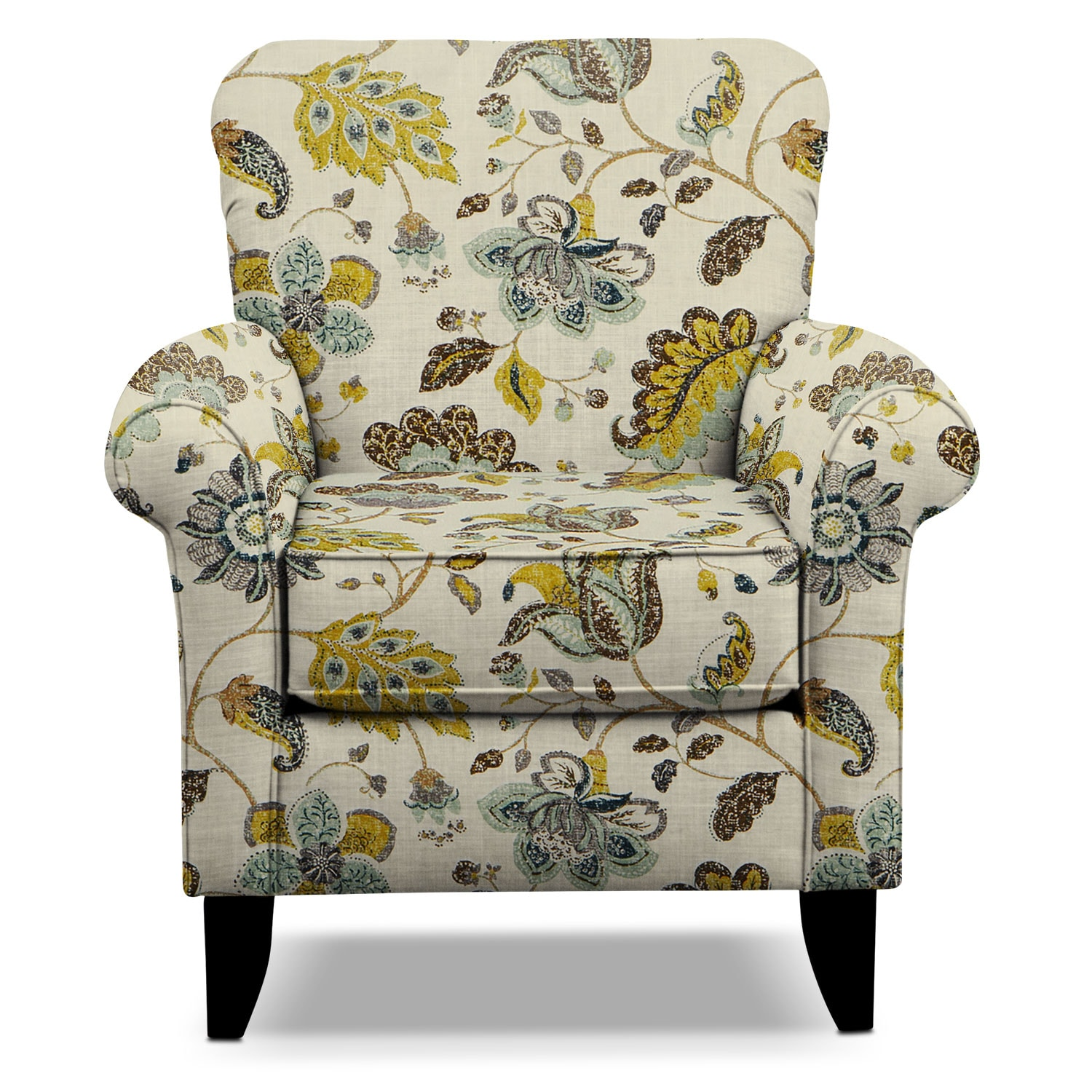 tracy accent chair - floral | value city furniture and mattresses