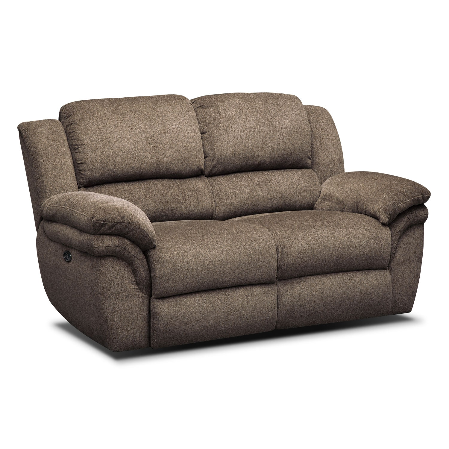 Living Room Furniture - Aldo Power Reclining Loveseat - Mocha