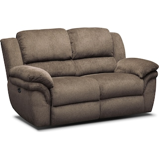 Aldo Power Reclining Loveseat - Mocha