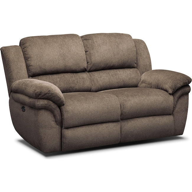 Living Room Furniture - Aldo Power Reclining Loveseat