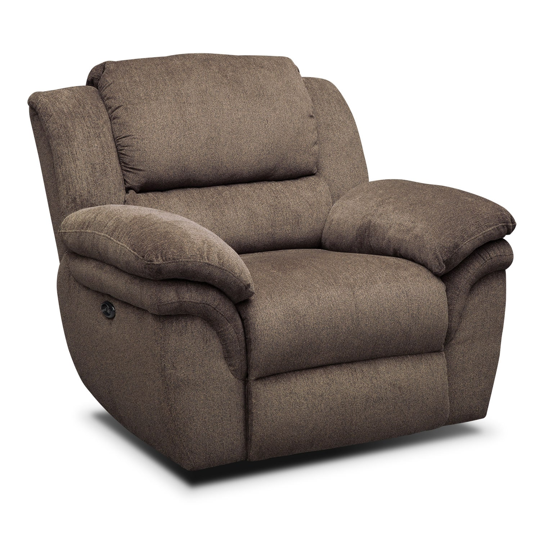 Living Room Furniture - Omni Mocha Power Recliner