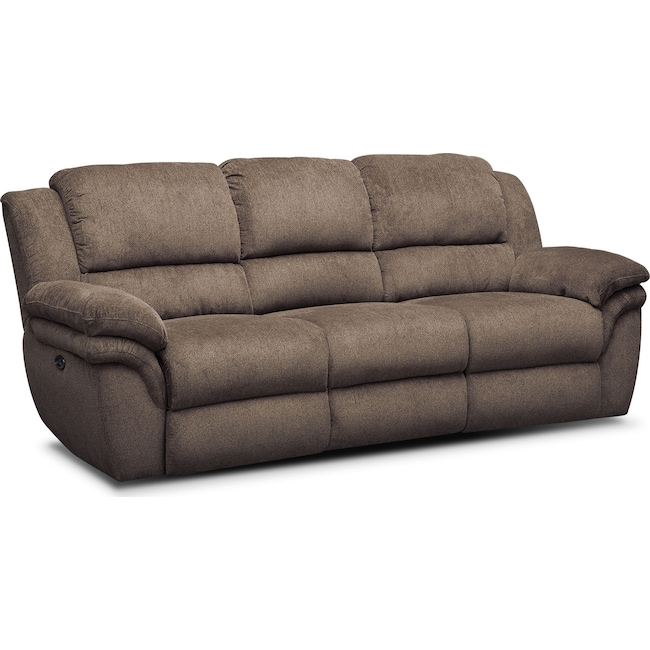 Living Room Furniture - Aldo Dual-Power Reclining Sofa