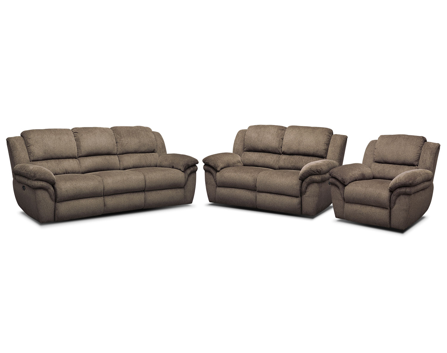 The Aldo Power Reclining Living Room Collection- Mocha