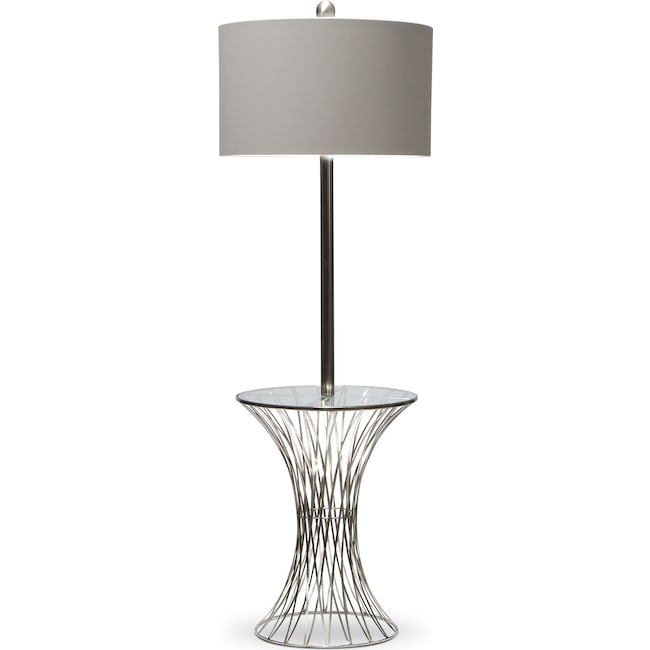 Home Accessories - Polished Nickel Floor Lamp
