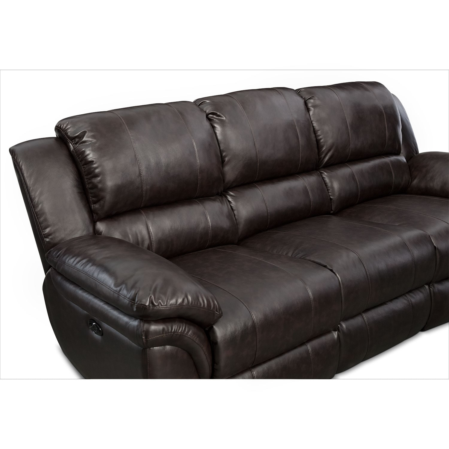 Click to change image.  sc 1 st  Value City Furniture & Aldo Power Reclining Sofa Loveseat and Recliner Set - Brown ... islam-shia.org