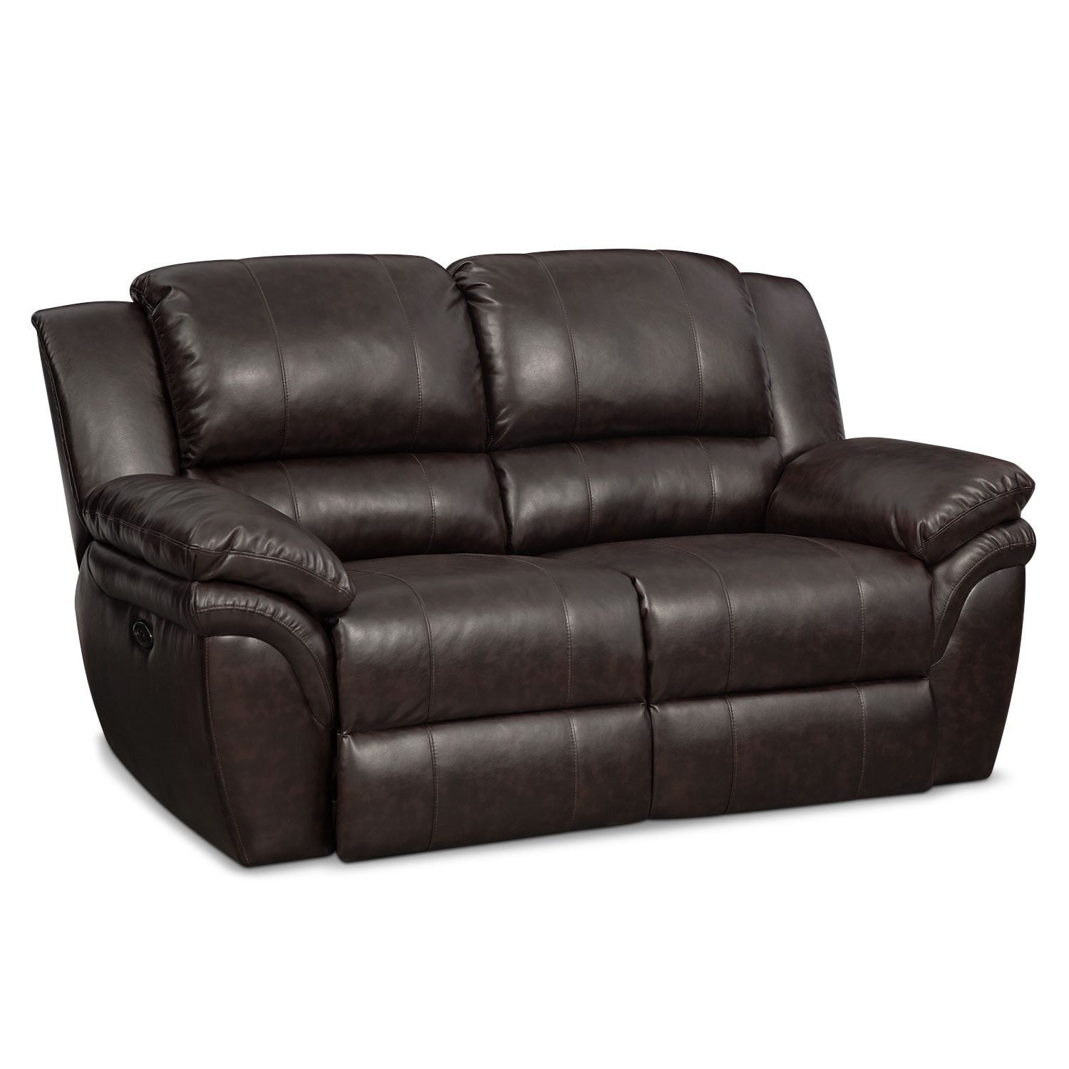 Living Room Furniture - Omni Brown Power Reclining Loveseat