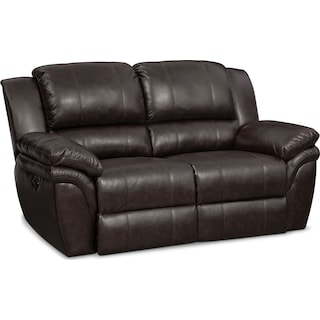 Aldo Power Reclining Loveseat - Brown