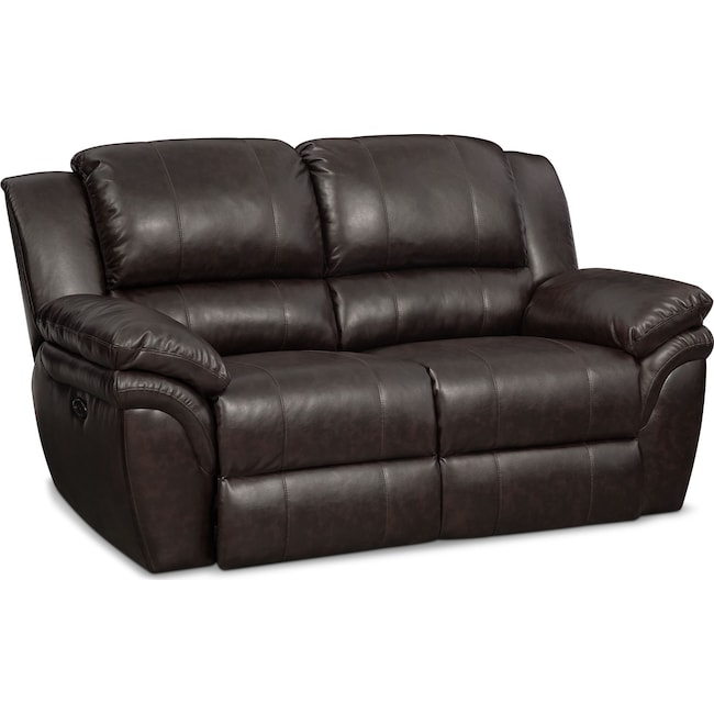 Living Room Furniture - Aldo Dual-Power Reclining Loveseat