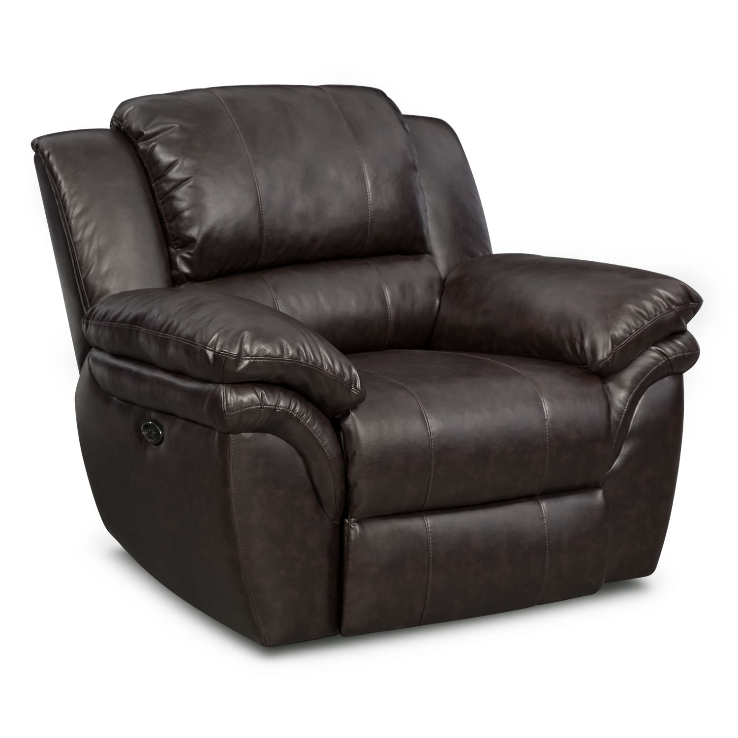 Living Room Furniture - Omni Brown Power Recliner