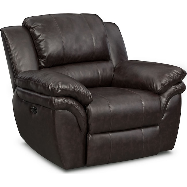 Living Room Furniture - Aldo Power Recliner - Brown