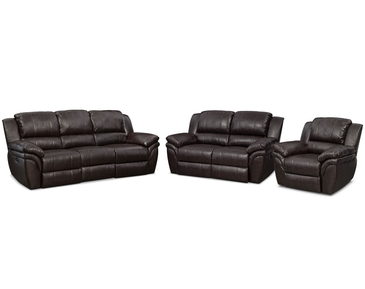 The Aldo Power Reclining Living Room Collection- Brown