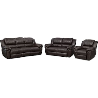 Aldo Dual-Power Reclining Sofa, Loveseat and Recliner