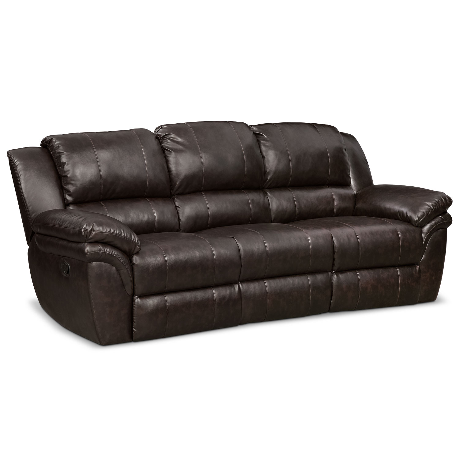 Living Room Furniture - Aldo Manual Reclining Sofa