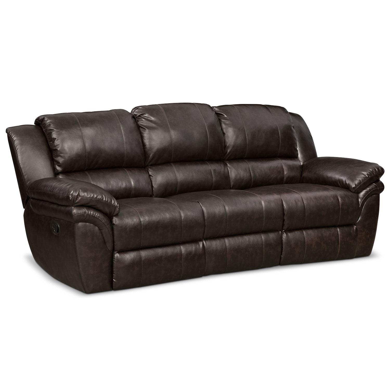 Omni Brown Manual Reclining Sofa