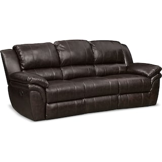 Aldo Manual Reclining Sofa - Brown